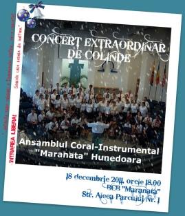 ansamblul coral instrumental maranata