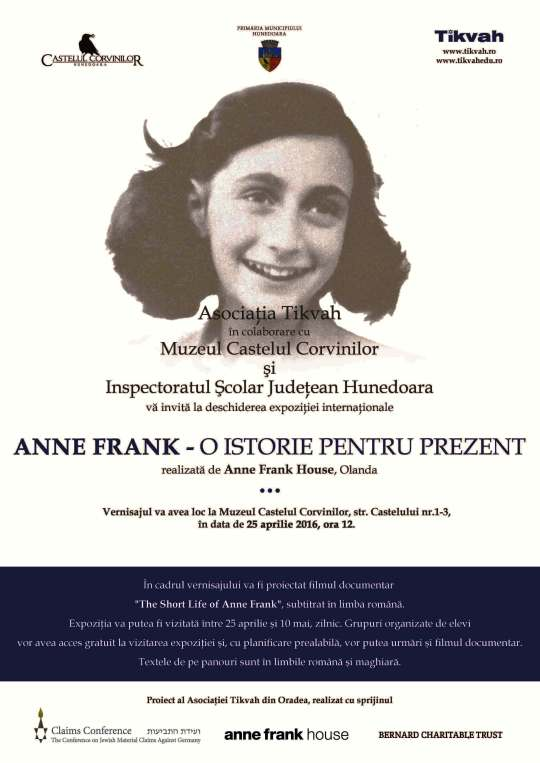 Afis Expozitie Internationala - Anne Frank